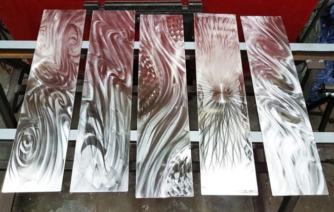 triptyque métal design