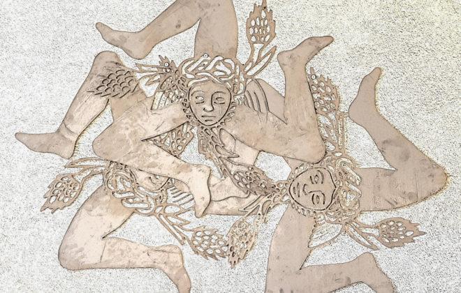 décoration murale métal trinacria