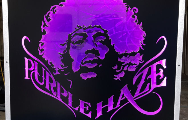 decoration murale acier design jimi hendrix