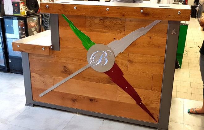 bar metal et bois acier chene massif