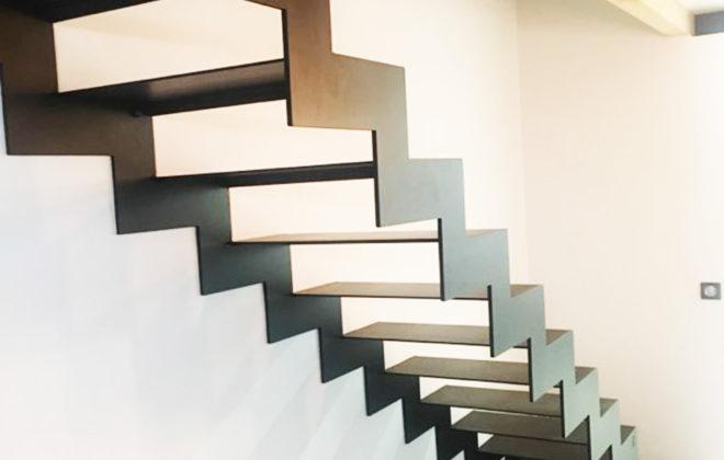 escalier industriel acier